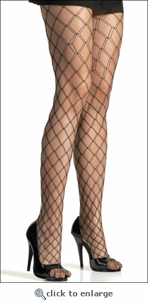Double Fence Net Pantyhose White
