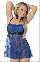 Royal Satin & Lace Baby Doll
