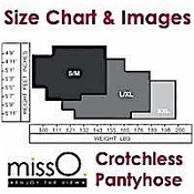 Miss O Hosiery Brand Size Chart & Detailed Images