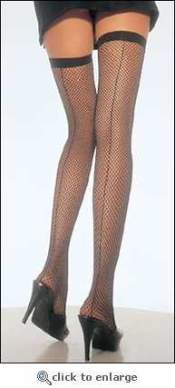 Fishnet Backseamed Stockings