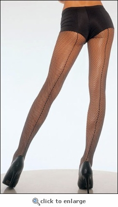 Fishnet Pantyhose Backseams