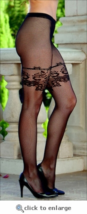 Fishnet Pantyhose Patterned Accents
