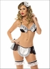 Flirty French Maid Role Playing Lingerie Set
