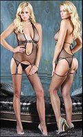 Industrial Net Suspender Bodystocking #89047