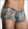 Men's Mini Shorts Sheer $100 Bills