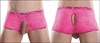 Men's Crotchless Open Rear Shorts Neon Lace