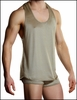 Mens Tank and Pouch Short Set