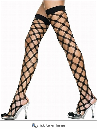 Multi-Net Thigh High Stockings