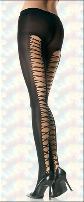 Pantyhose with Corset Laced Back