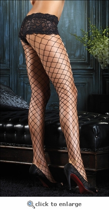 Pantyhose Diamond Net with Booty Short