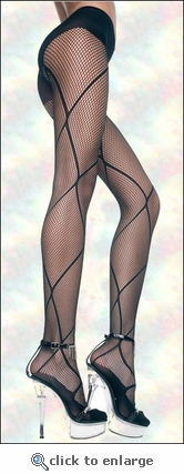 Pantyhose Patterned Fishnet Links