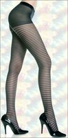 Pantyhose Patterned Horizontal Stripes