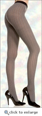 Pantyhose Patterned Pinstripe Tights