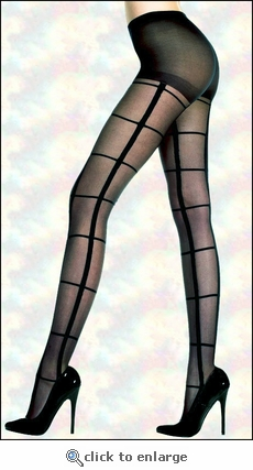 Pantyhose Patterned Wide Plaid