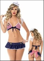 Patriotic Lingerie Ship Mate Red White & Blue