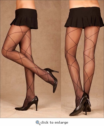 Patterned Pantyhose Queen Size