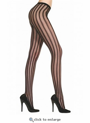 Patterned Tights Striped Crochet Net