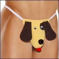 Men's G-String Novelties Puppy Pouch