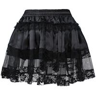 Plus Size Corset Skirt Satin & Lace