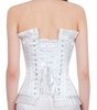 Plus Size Corset White Satin Waist Reducing Corset