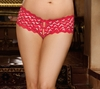 Plus Size Crotchless Boy Short DreamGirl 1409X
