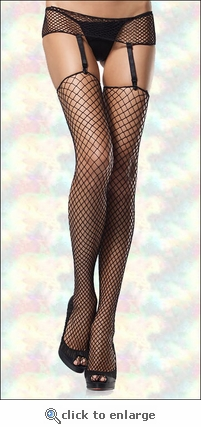 Plus Size Garterbelt & Stockings Industrial Net