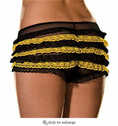 Plus Size Ruffled Panty