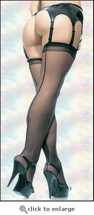 Plus Size Stockings with Back Seam