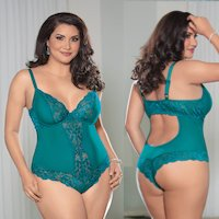 Plus Size Teddy Tantalizing Teal