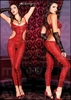 Footless Python Print Bodystocking