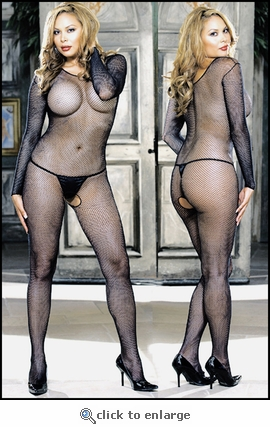 Queen Bodystocking Fishnet with Sleeves