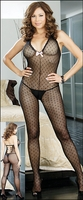 Queen Size Bodystocking Dots & Bows