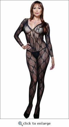 Queen Size Bodystocking Lace & Bows