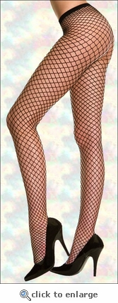 Queen Size Diamond Net Pantyhose