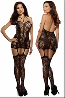 Queen Size Chemise with Attached Gartered Stockings