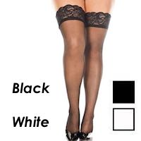 Queen Size Stockings Lace Tops
