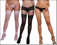 Queen Size Stockings with Stay Up Lace Tops