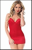 Red Hot Chemise Lingerie Set