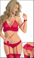 You're Mine Bra Gartertini Tie Up Set