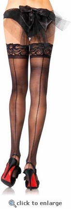 Stay Up Stockings Lace Tops & Backseams