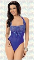 Teddy Lingerie Brilliant Blue & Gold