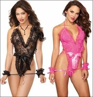 Teddy Lingerie with Restraints Set