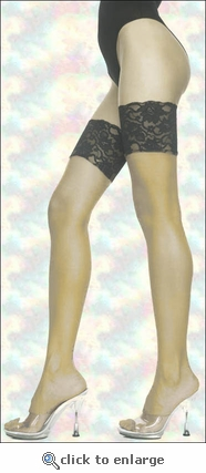 Thi-High Stockings Two-Tone Contrast Lace
