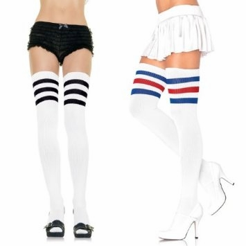 Thigh High Athletic 3 Stripe Socks