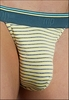 Mens Micro Thong Heather Stripe