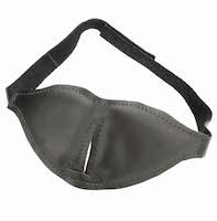 Total Black Out Leather Blindfold