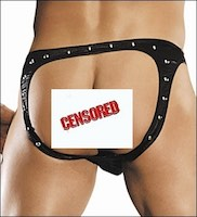 Men's Spank Me Studded Cire Open Rear Bikini