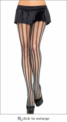 Two-Tone Thorn Net Pattern Pantyhose