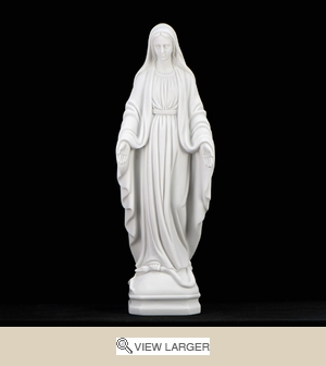 "16"" Italian White Lady of Grace Statue"