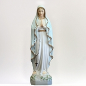 "22"" Painted Our Lady of Lourdes Statue"